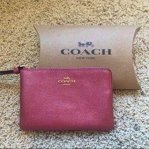 *Authentic Brand New* Metallic Pink Coach Wristlet